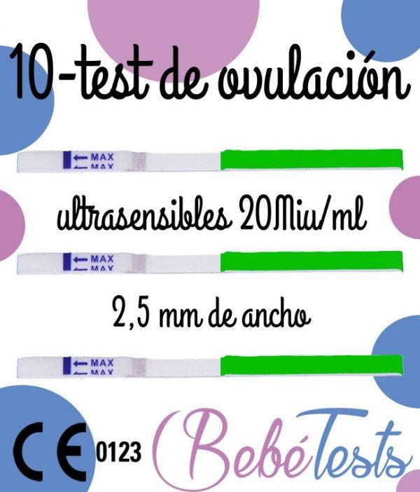 10 TEST OVULACION 25